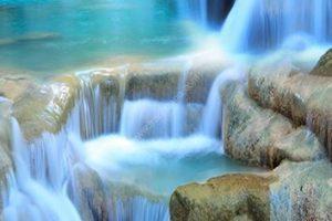 tranh 3d thác nước