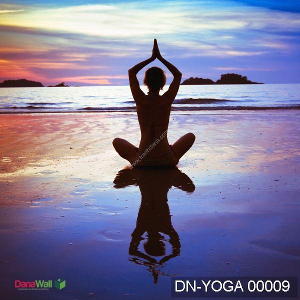 tranh dán tường yoga