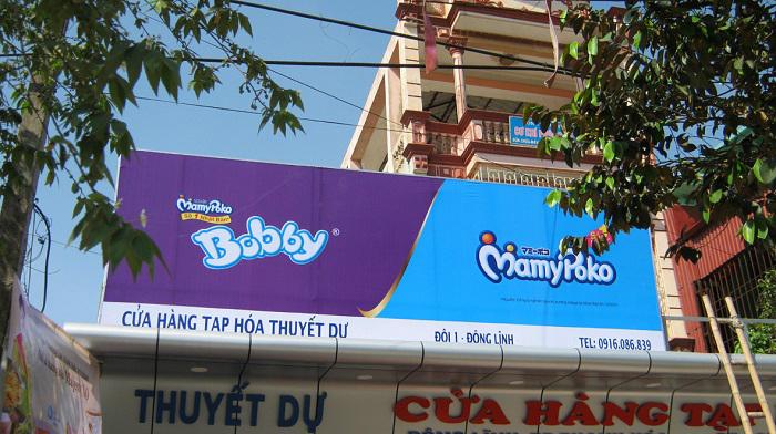 Bảng hiệu hiflex tạp hóa, quảng cáo nhãn hàng thương hiệu