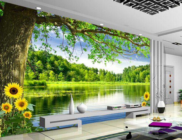 Tranh Dán Tường 3D Phòng Khách 15211457