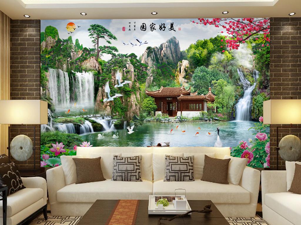 Tranh Dán Tường 3D Phòng Khách 16350830