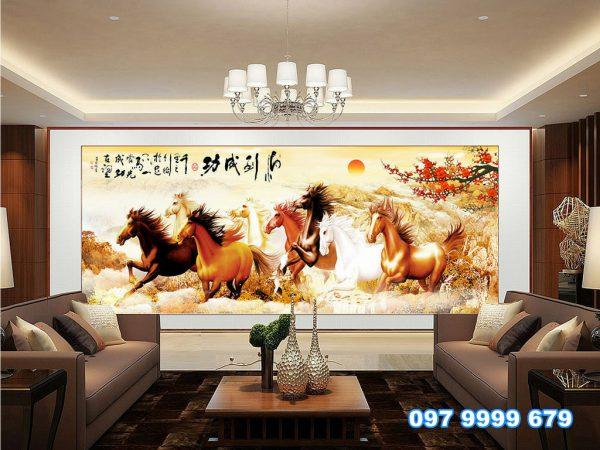 Tranh Dán Tường 3D Phòng Khách 17405115