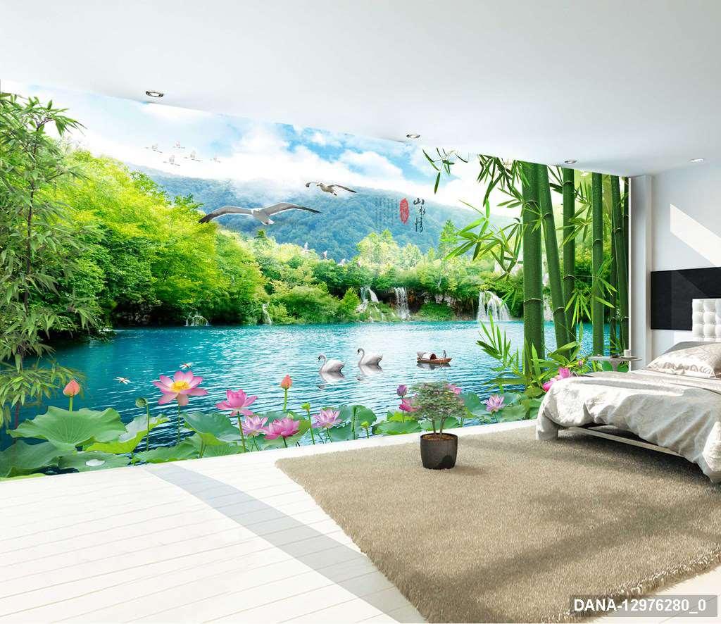 Tranh Dán Tường 3D Phòng Ngủ 12976280