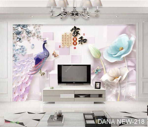 Tranh Dán Tường 3D Phòng Khách DANA 218