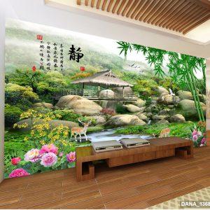Tranh Dán Tường 3D Phòng Khách 13685517