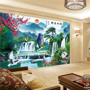 Tranh Dán Tường 3D Phòng Khách 14643284