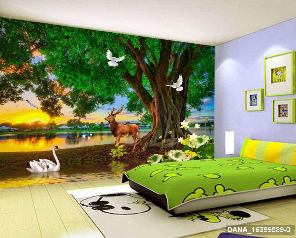 Tranh Dán Tường 3D Phòng Ngủ 16399589