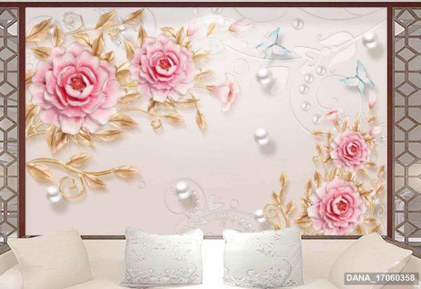 Tranh Dán Tường 3D Phòng Ngủ 17060358
