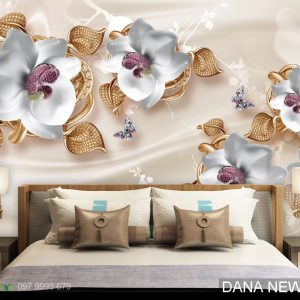 Tranh Dán Tường 3D Phòng Ngủ TS1123